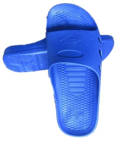 Home Blue Anti Static Footwear , Anti Fatigue ESD SPU Clean Room Shoes